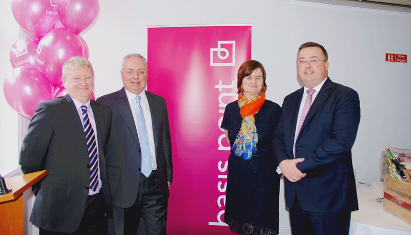Adrian Waters (director of basis.point and non-executive director), Colm Clifford (treasurer of basis.point and partner at KPMG), Jacqui Guiry (Archways) and Pat Lardner, (CEO of the IFIA).